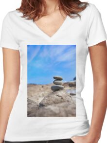 Stacks on  Women's Fitted V-Neck T-Shirt