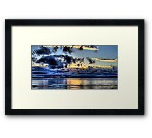 Olympic Sunset in January Framed Print