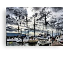 Oak Harbor Marina and Clouds Canvas Print