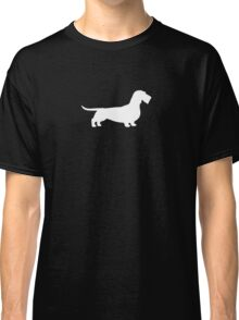 Wire Haired Dachshund White Silhouette(s) Classic T-Shirt