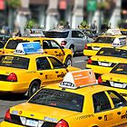 NYC, Cab City by infiniteartfoto