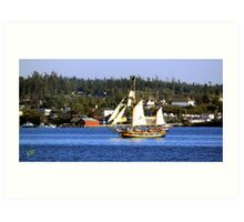 Tall Ships in Coupeville Art Print