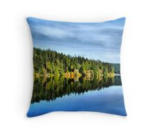 Pass Lake Fall Reflection Three Throw Pillow