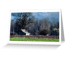 Skagit Barn Digital Painting Greeting Card