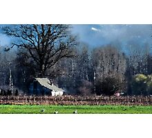 Skagit Barn Digital Painting Photographic Print