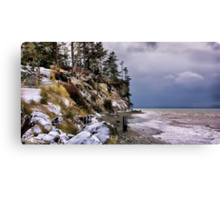 West Beach Snow Canvas Print