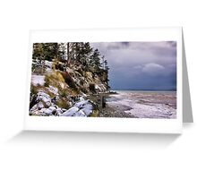 West Beach Snow Greeting Card