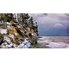 West Beach Snow Photographic Print