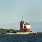 Round Island Lighthouse by Bob Hardy