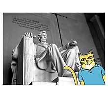Claude Visits the Lincoln Memorial Photographic Print