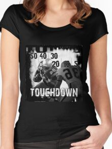 50..30..10..Touchdown! Women's Fitted Scoop T-Shirt