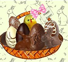 Chocolate Easter egg Card ( 2615  Views) by aldona