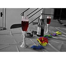 Wine With Flowers Photographic Print