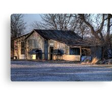 The Old Country Garage Canvas Print