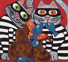 'Cracked Cat-Burglars' - Naughty Pussy Cats! by Lisafrancesjudd