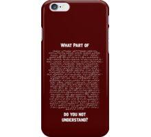Standard Model Lagrangian iPhone Case/Skin