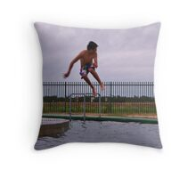 Side Action Throw Pillow