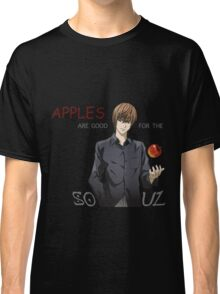 death note apples are good for the soul light ryuk anime manga shirt Classic T-Shirt