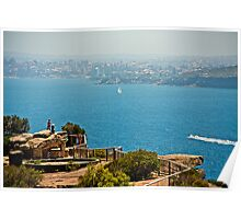 Watson Bay Overlooking The Manly Peninsula Poster