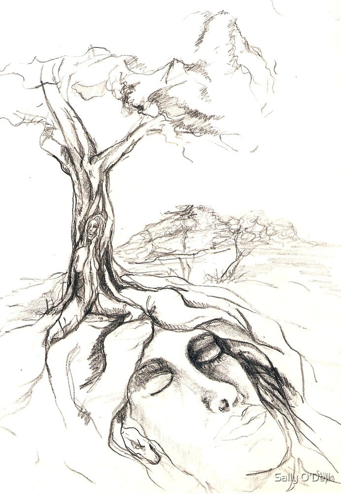Earth children sketch by Sally O'Dell