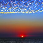 sunset and mackeral sky. by jomtien