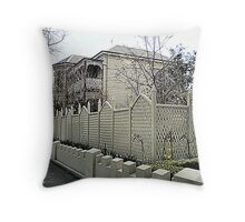 Lovely  old 2-storey - very well kept Throw Pillow