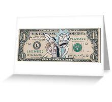 Rick and Morty Dollar Bill Greeting Card