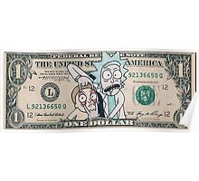 Rick and Morty Dollar Bill Poster