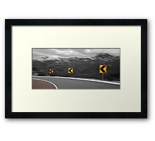 Going Around The Bend  Framed Print