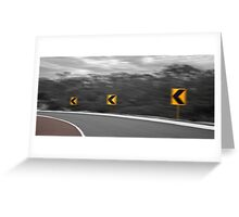Going Around The Bend  Greeting Card