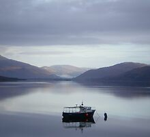 Scottish fishing boat - early morning by Roger Wain