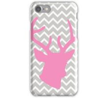 Pink Deer with Chevron iPhone Case/Skin