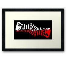 zebra woman doubling op-art style Framed Print