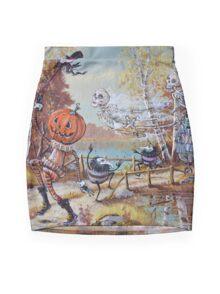 Hallowe'en Comes to Town Mini Skirt