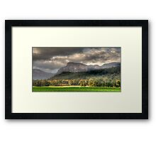 Valley of Light And Shadows- Capertee Valley, Australia - The HDR Experience Framed Print