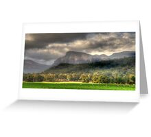 Valley of Light And Shadows- Capertee Valley, Australia - The HDR Experience Greeting Card