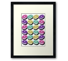Iced Ring Donuts Framed Print