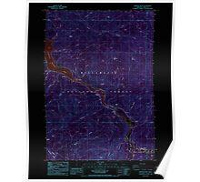 USGS Topo Map Oregon Westfir West 282057 1986 24000 Inverted Poster