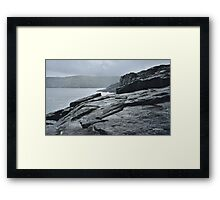 TASMAN PENINSULA ~ Wild Rocks by tasmanianartist Framed Print