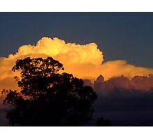 Black, Gold and Blue - Stormy afternoon Photographic Print
