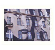 Building Street Art - Bülowstraße, Berlin Art Print
