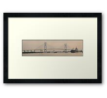 Saigon Harbour Saigon River Ho CHi Minh CIty Framed Print