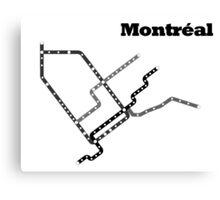 Montreal Subway Map Canvas Print