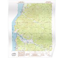 USGS Topo Map Oregon Neskowin 280909 1985 24000 Poster