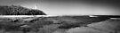 Lighthouse Beach B&W Pano by Tam  Locke
