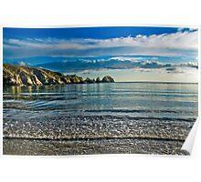 Calm Seas - Moulin Huet Bay, Guernsey Poster