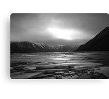 Icy Loch b&w Canvas Print