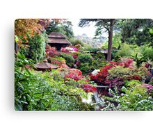 Coloured Garden Canvas Print