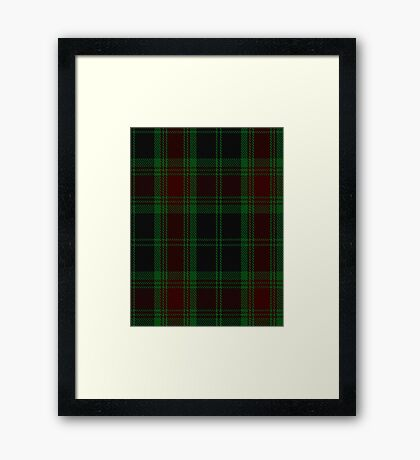 00302 Carlow County District Tartan  Framed Print
