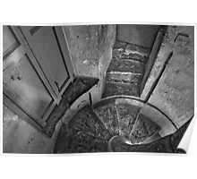 Mono 17th Century Stone-Cut Spiral Staircase Zabbar Parish Malta Poster